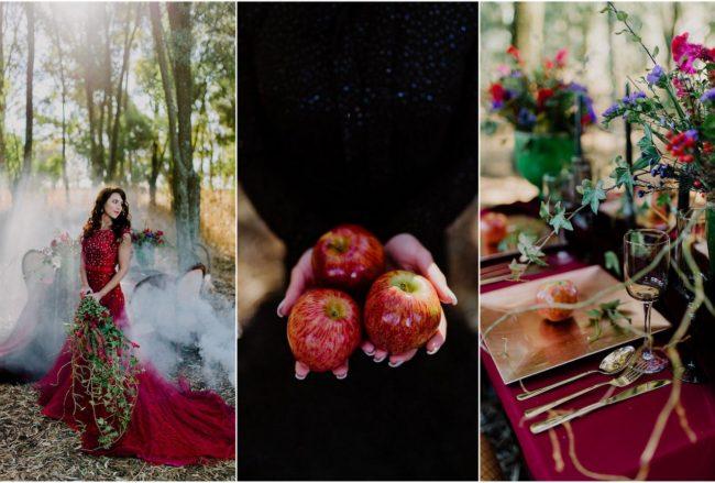 Dramatic Red and Black Forest Wedding {Jana Marnewick Photography}
