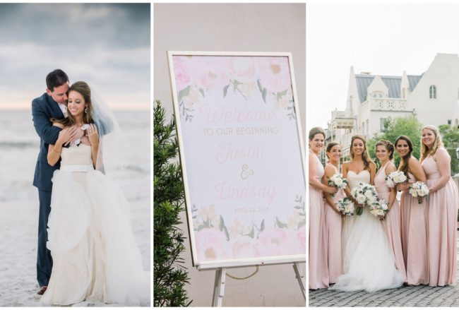 Romantic, Elegant Rosemary Beach Wedding ☀️ {dear wesleyann Photography}