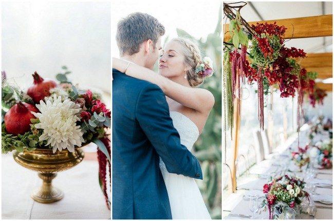 Elegant Marsala + Gold Farm Wedding {Debbie Lourens Photography}