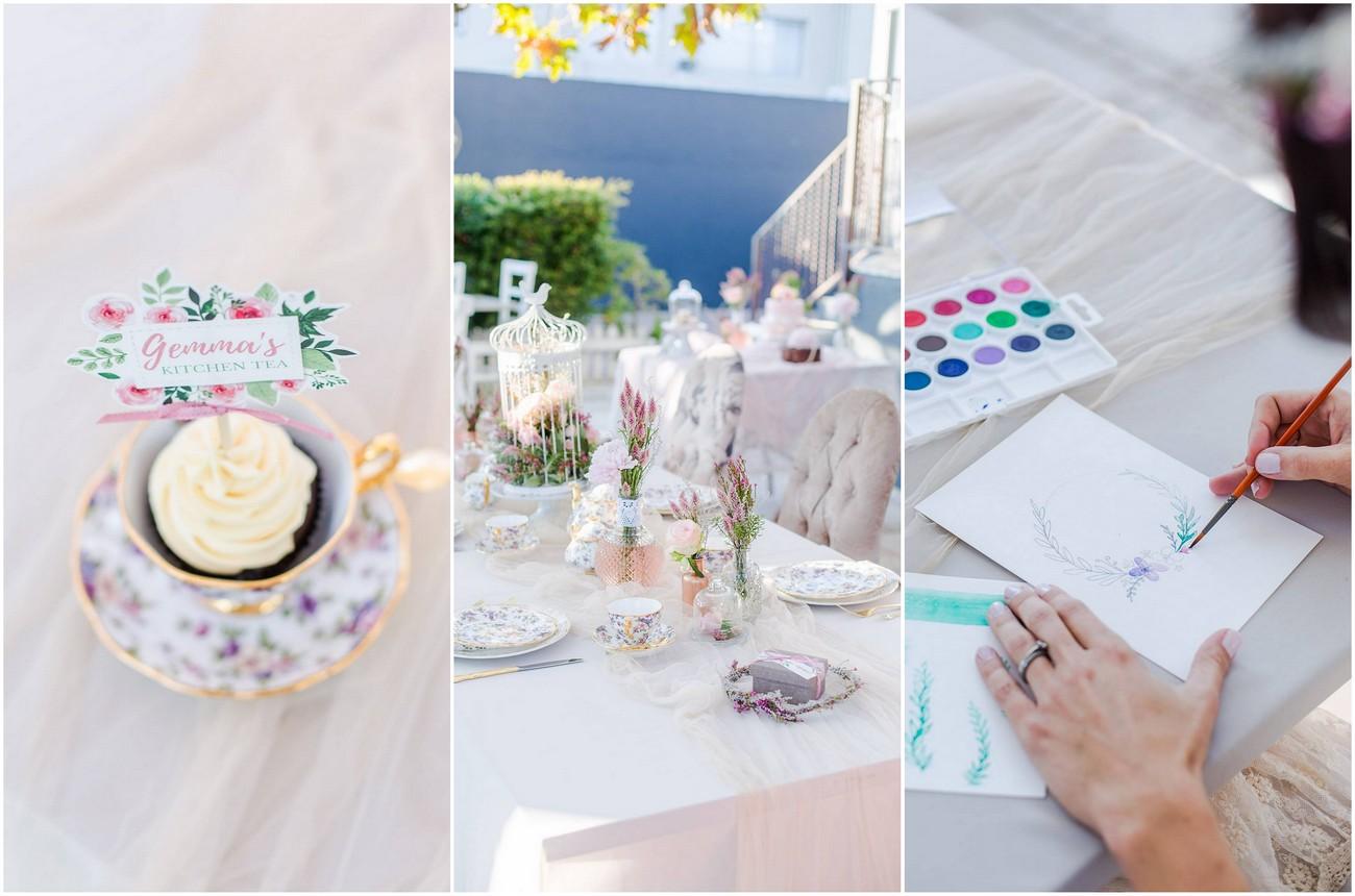 Modern Watercolour Kitchen Tea Ideas With Craft Class Tips