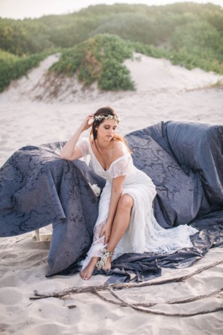 Cerulean blue and Pewter Beach Wedding Ideas