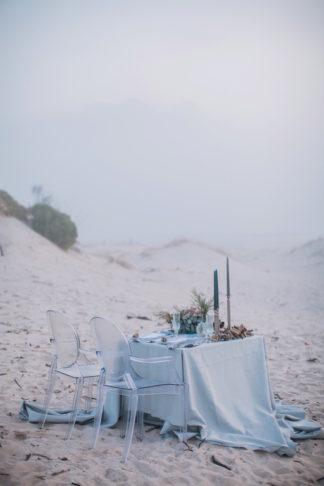 Cerulean blue and Pewter Beach Wedding Ideas