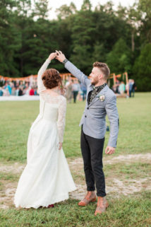 Bohemian Campground Wedding at Sunset