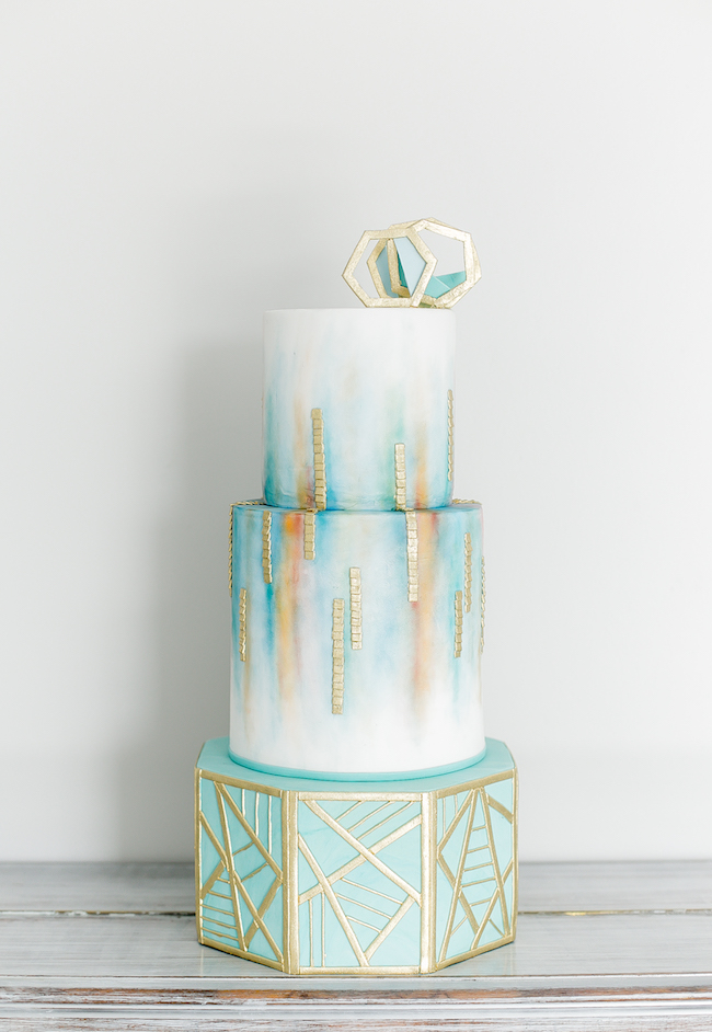Ethereal Watercolour Inspired Teal And Gold Wedding Ideas
