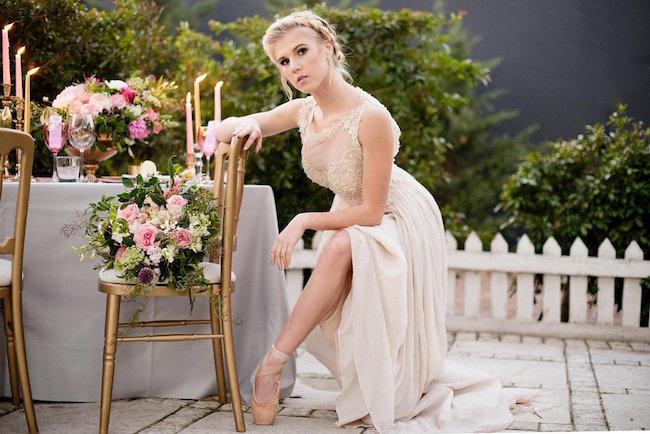 Breathtaking Ballet Bride Ethereal Ballerina Wedding Dress Inspiration