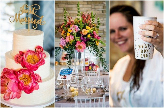 Vibrant Coral Pink and Gold Peony Wedding {Cory Ryan Photography}