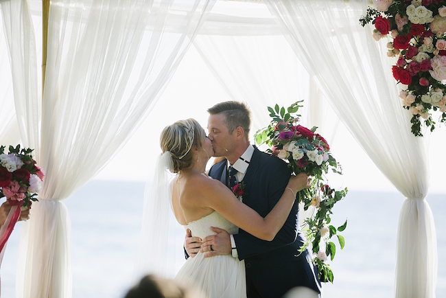 Fuchsia Blush Cream Beach Wedding