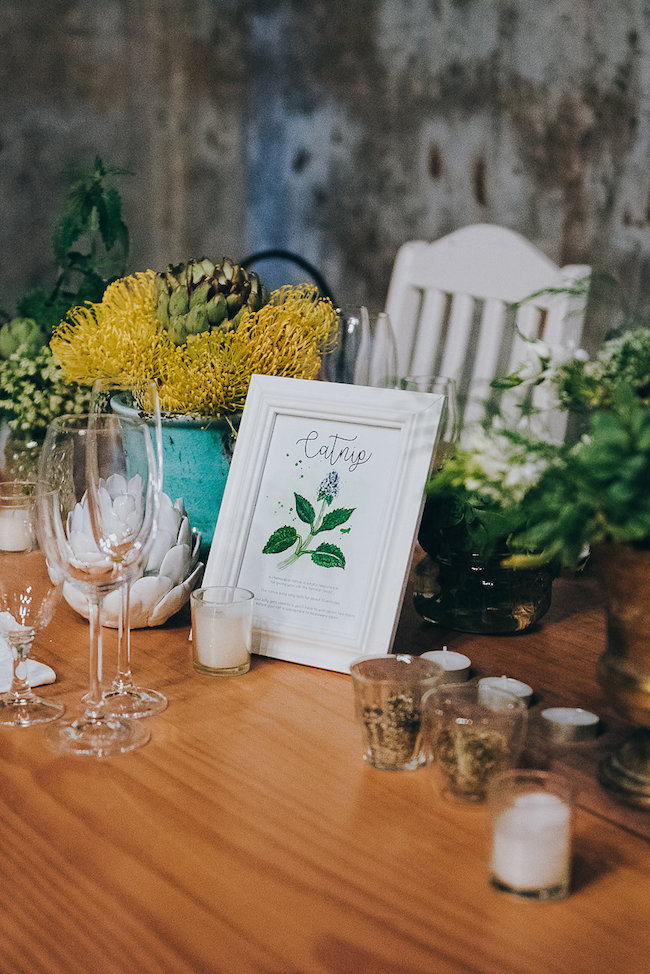 Rustic Herb Wedding Decor