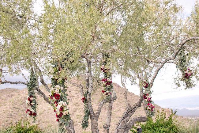 Outdoor Marsala Burgundy Wedding