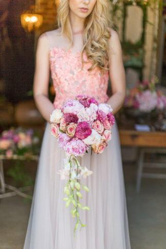 Whimsical Coral Garden Wedding Elopement Ideas