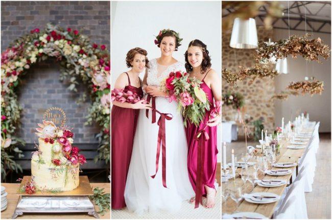 Burgundy + Gold Poortjie Farm Wedding in Heidelberg, Gauteng {Christopher Smith}