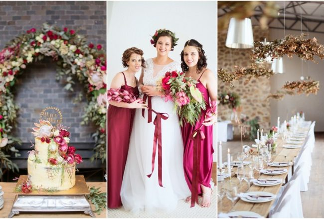 Burgundy + Gold Poortjie Farm Wedding in Heidelberg, Gauteng {Christopher Smith}