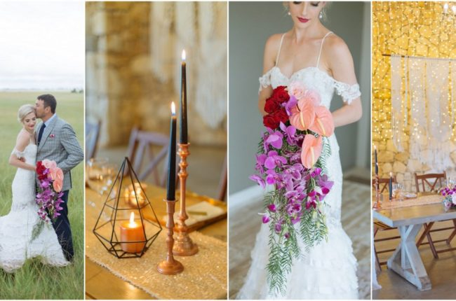 Vibrant + Modern Orchid Wedding {Lana Human Photography}