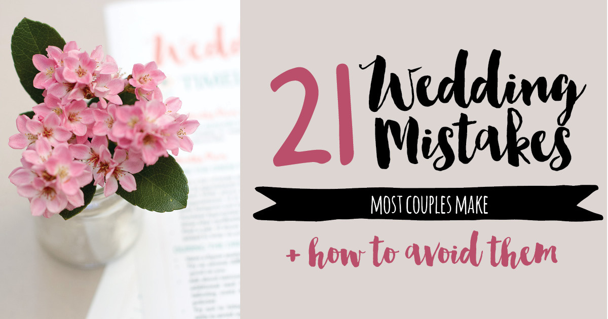 Wedding planning tips 21 mistakes couples make when wedding planning junglespirit Images