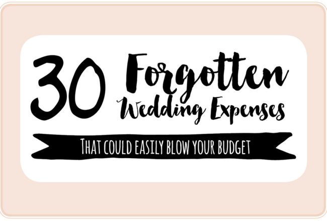30+ Important Wedding Costs You Might Have Overlooked!