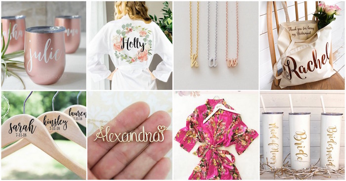 Cheap Wedding Gifts For Bride: 20+ Bridesmaids Gifts: Bridesmaid Jewelry, Custom Bags