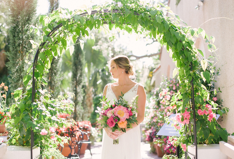 Lush Selby Botanical Garden Wedding In Beautiful Berry Shades