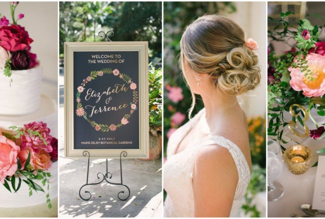 Botanical Garden Wedding in Berry Shades {Jordan Weiland Photography}