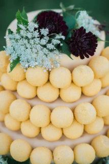 Purple Gold Wedding Cake