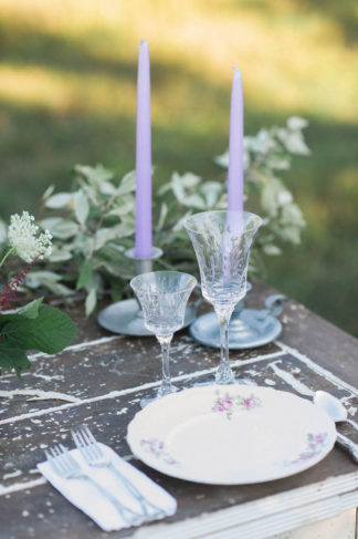 Purple Gold Wedding