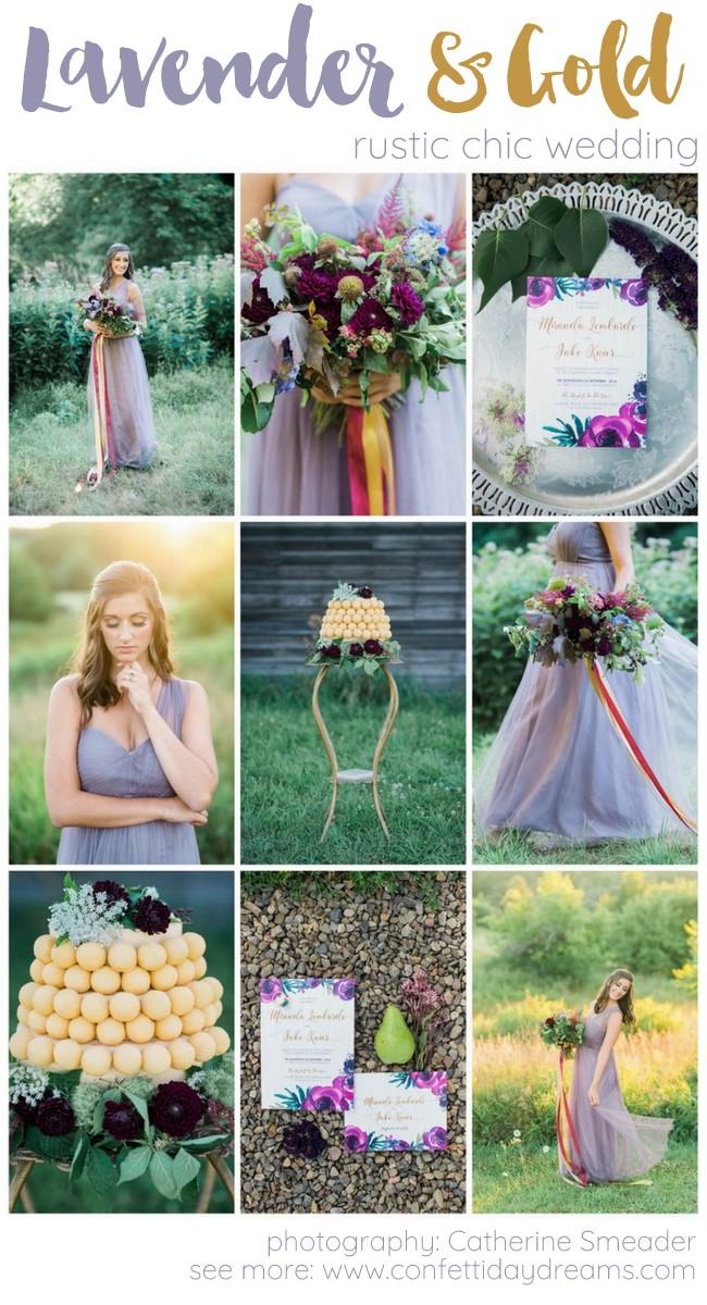 Purple gold rustic chic wedding ideas catherine smeader photography purple gold wedding ideas junglespirit Choice Image