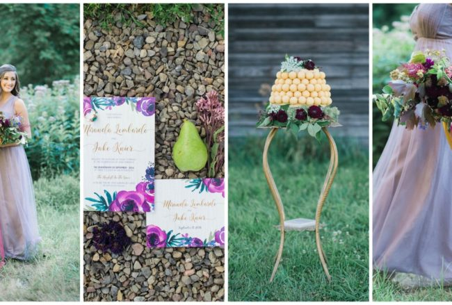Purple + Gold Rustic Chic Wedding Ideas {Catherine Smeader Photography}