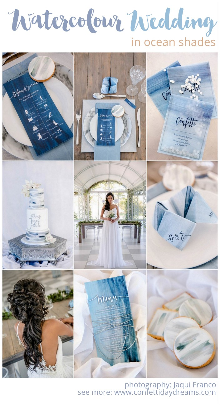 Watercolor Ocean Wedding Ideas