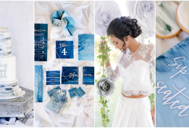 Decor + Details: Watercolor Wedding Ideas in Ocean Blue and Silver {Jaqui Franco}