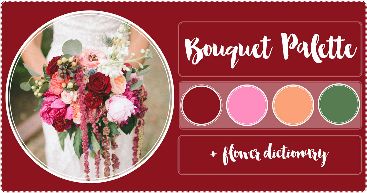 Burgundy blush peach wedding flowers