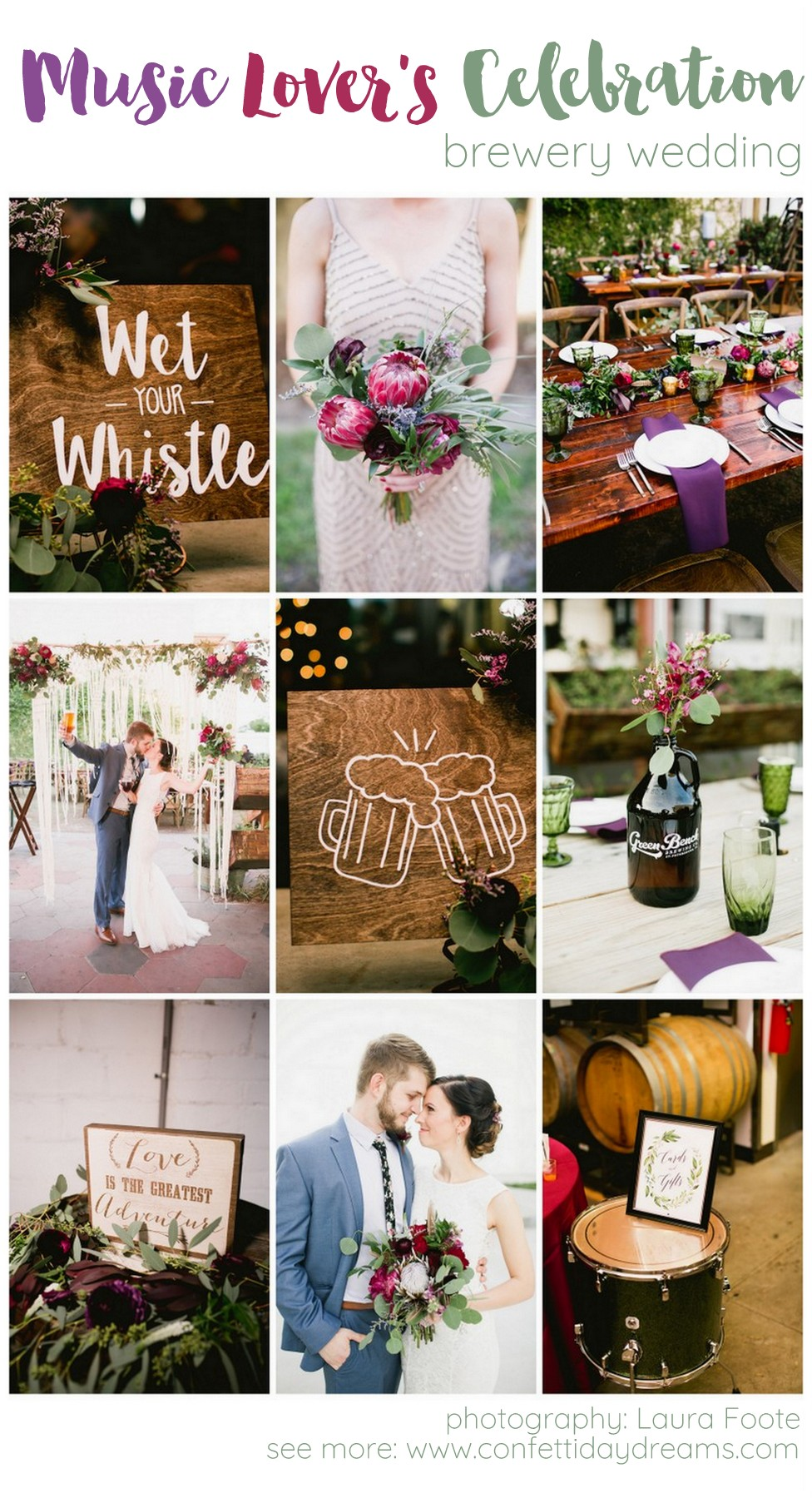 Music Lovers Brewery Wedding