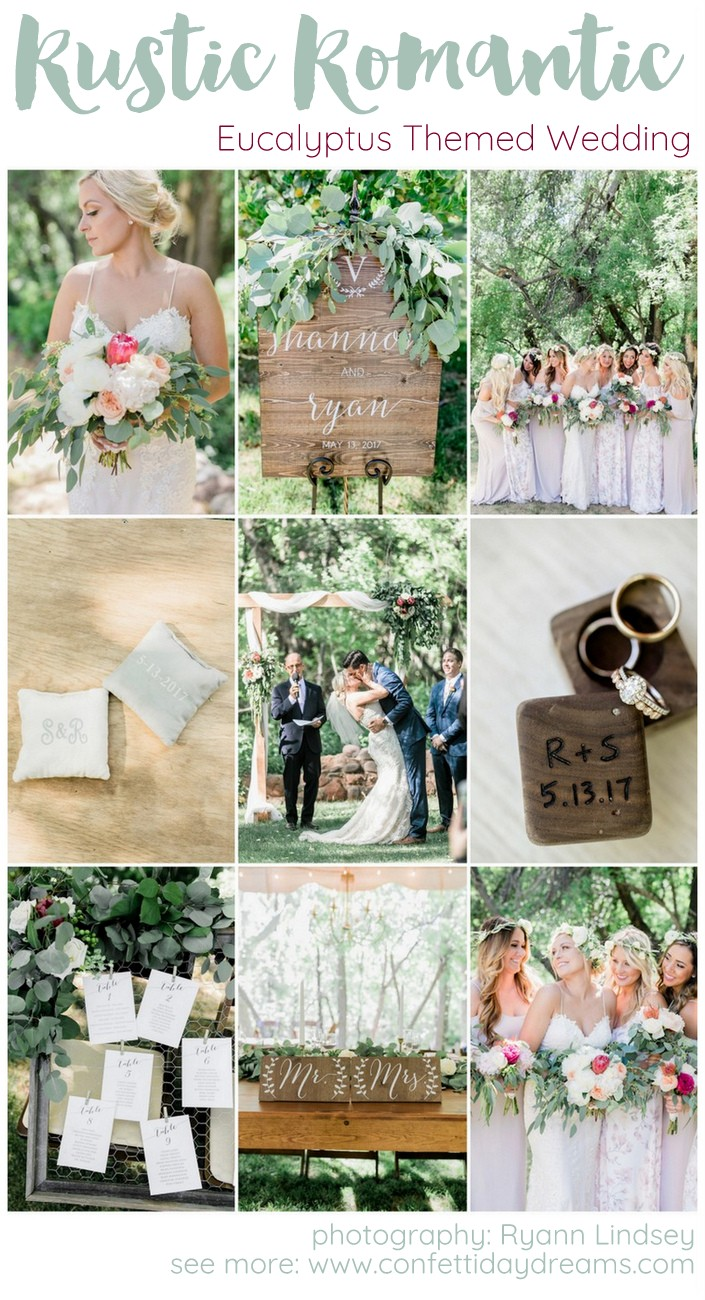 Rustic Romantic Eucalyptus Themed Garden Wedding Ryann Lindsey