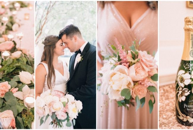 Elegant Blush Pink, Ivory + Champagne Wedding in Houston {Endless Exposures Photography}