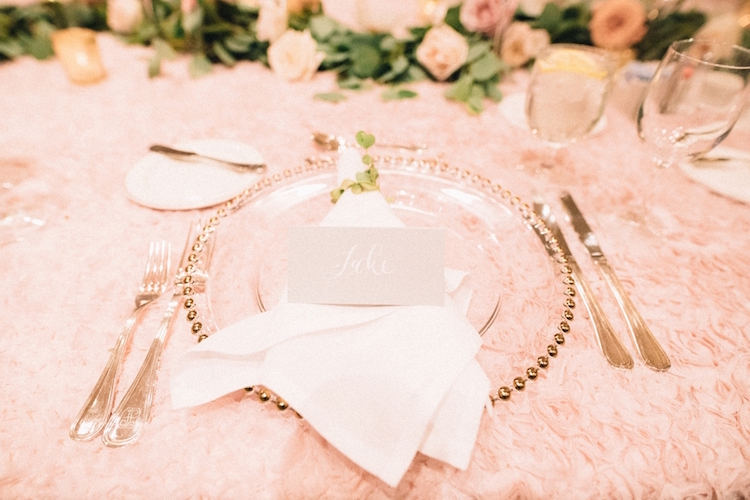Blush pink ivory and champagne wedding colors