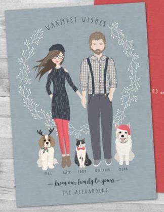 Cute Family Christmas Cards