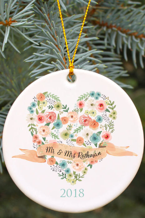 Engaged ornaments for Christmas