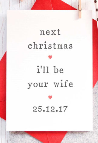 Fiance Christmas Cards
