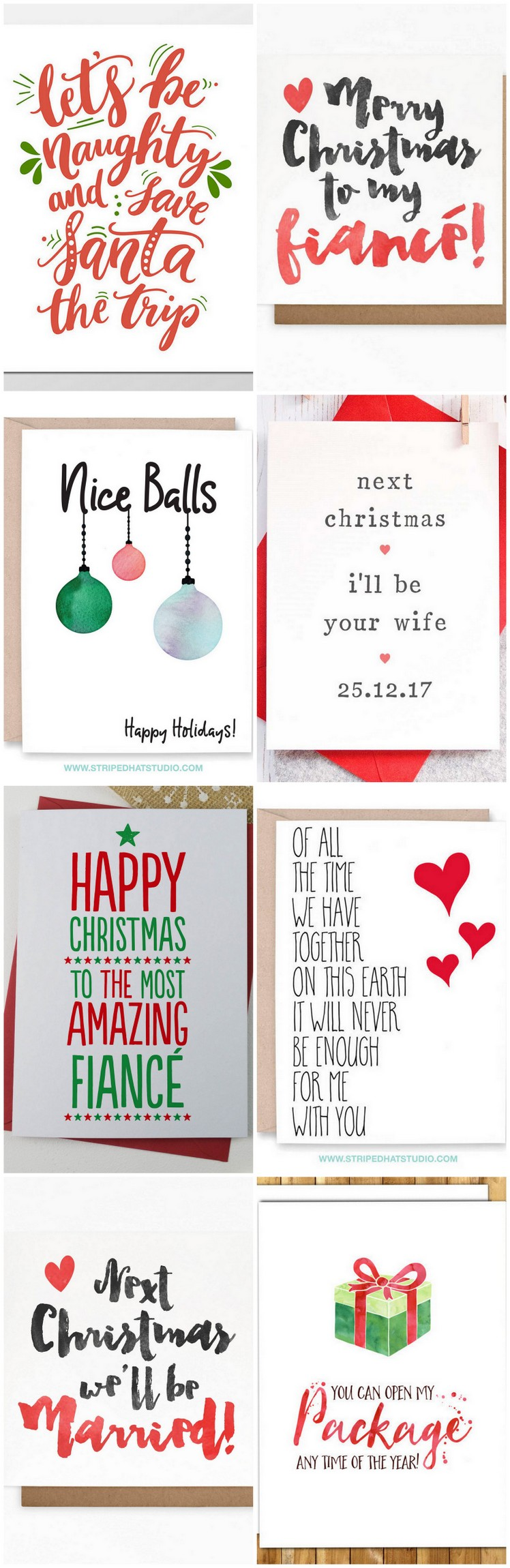 16 adorable fiance christmas cards for your bae fiance christmas and holiday cards kristyandbryce Gallery
