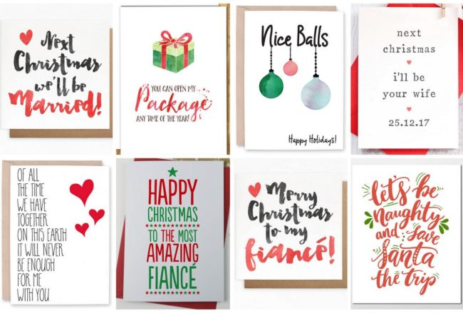 16 Adorable Fiance Christmas Cards for Your Bae!