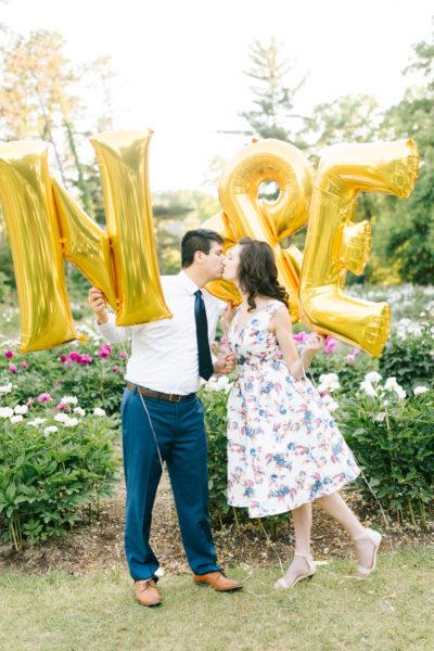 Joyful Balloon + Peony Filled Garden Engagement {Beth Joy Photography}