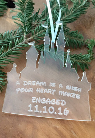 Christmas ornaments for engaged couples