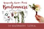Burgundy Cream Wedding Boutonniere DIY Tutorial