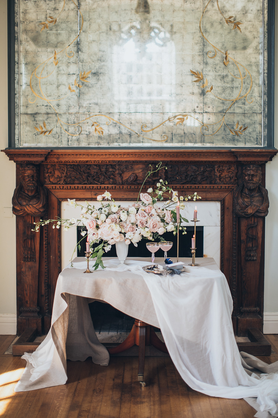 Intimate wedding for two Cornwell Manor Countryside
