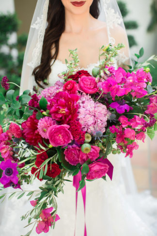 Bougainvillea wedding bouquet