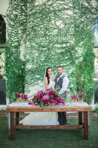 Bougainvillea wedding centerpiece