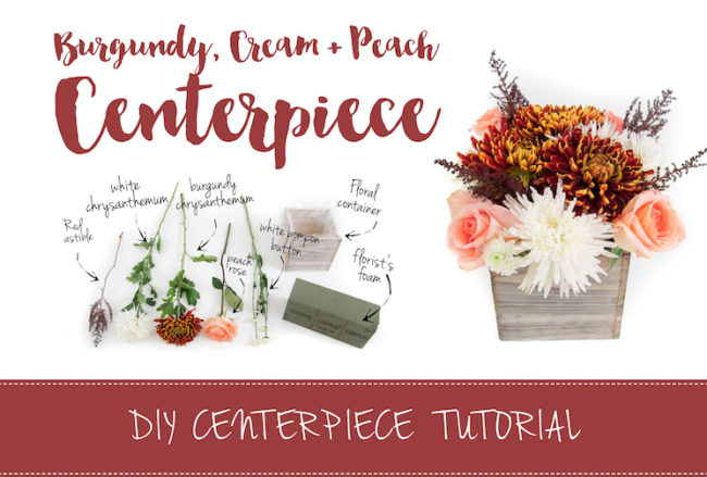 Easy Burgundy + Cream DIY Wedding Centerpiece Tutorial