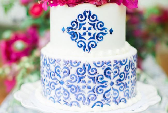 Bougainvillea + Blue Spanish Wedding Ideas {Jessica Q Photography}