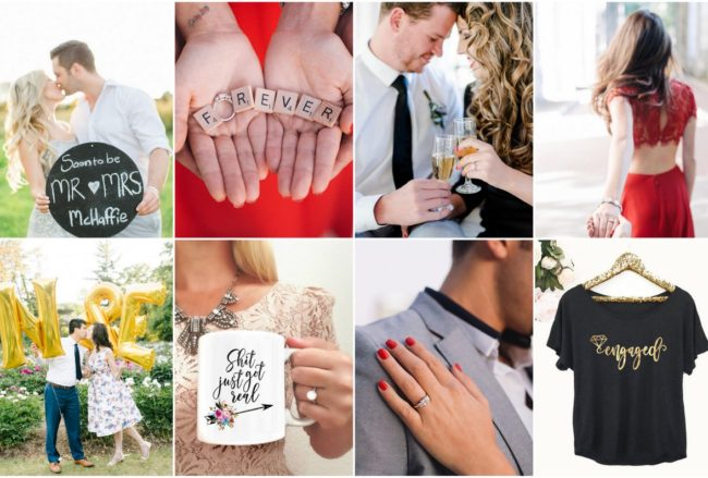 22 Ultra Cute & Super FUN Engagement Announcement Photos + Ideas