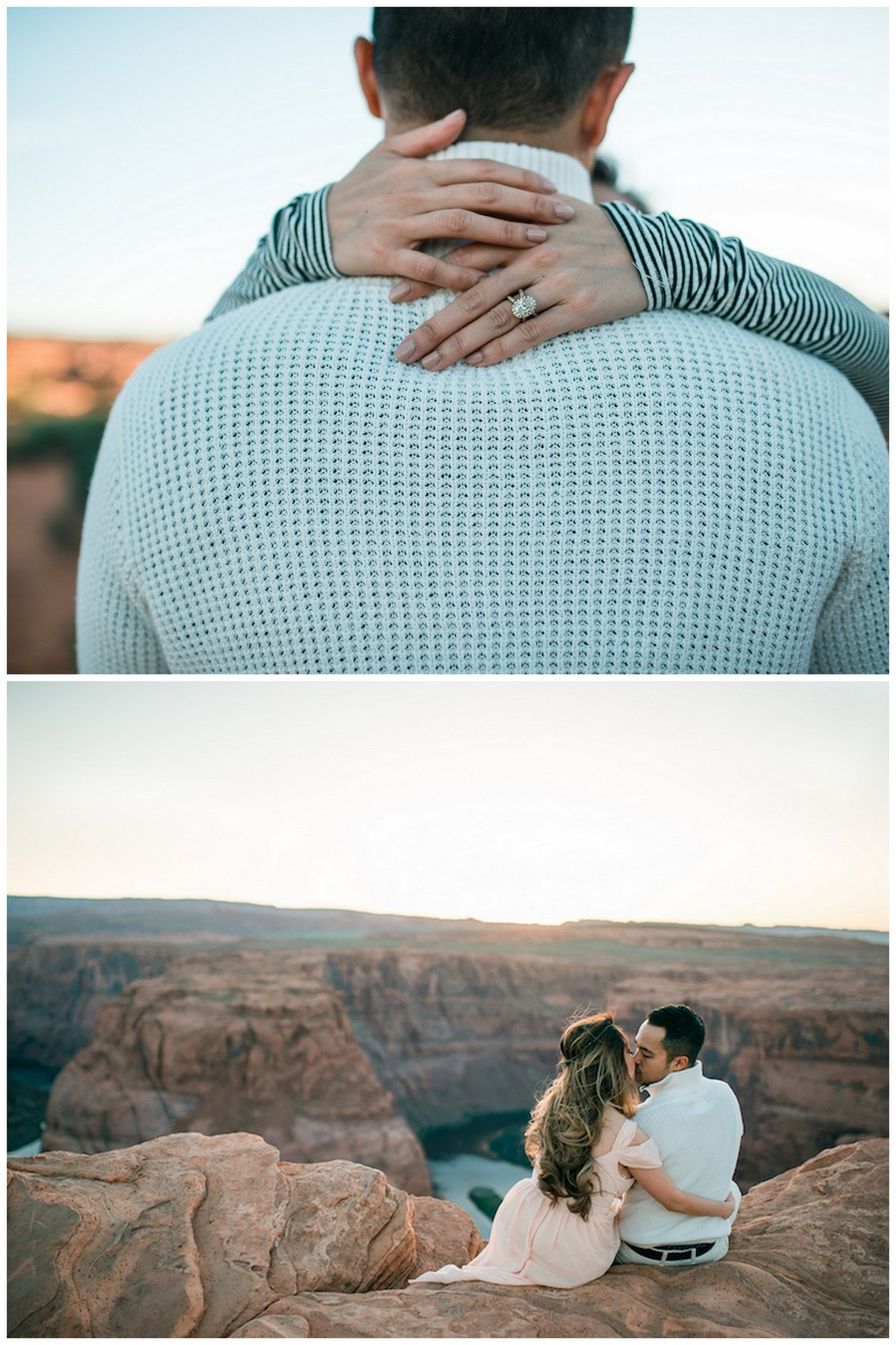 Creative engagement announcement photos on social media