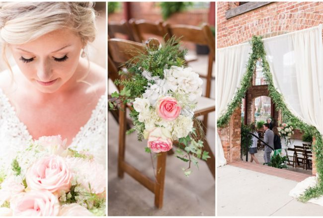 Beautifully Fresh Blush Pink + White Spring Wedding {Jennifer Stuart Photography}