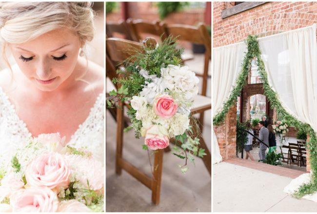 Beautifully Fresh Blush Pink + White Spring Wedding {Jennifer Stuart Photography}